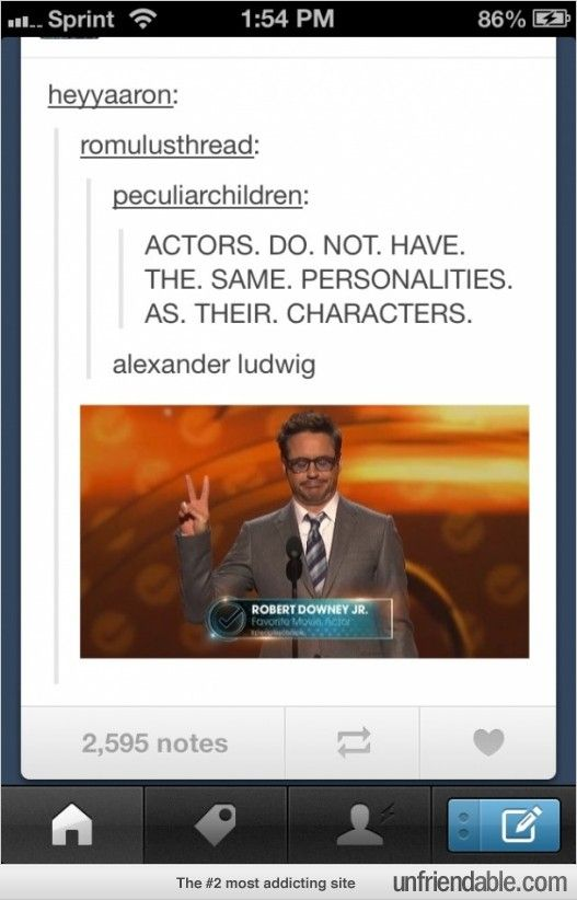 Robert Downey jr= tony stark - Basically the Avengers are the actors playing themselves as superheroes.