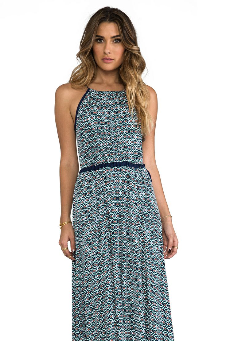 T-Bags LosAngeles Tank Maxi Dress with Tonal Hem in Greek Print from REVOLVEclothing