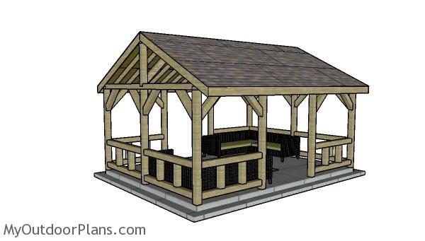 15x20 Pavilion Plans Myoutdoorplans Free Woodworking Plans And