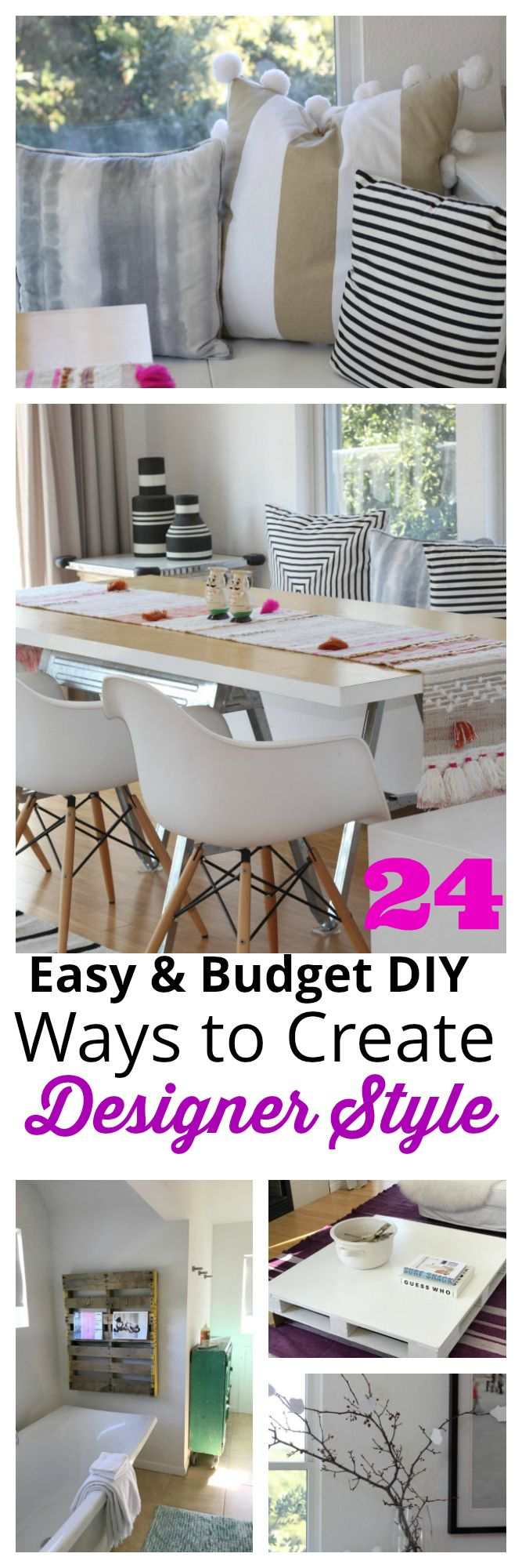 24 easy DIY ways to create designer Scandinavian minimalist style when you're on a budget.