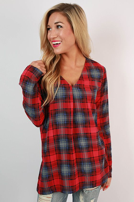 Calling all PIKO lovers, you're going to love this new twist on plaid! The loose fit and v-neck collar make this top perfect for any body type!