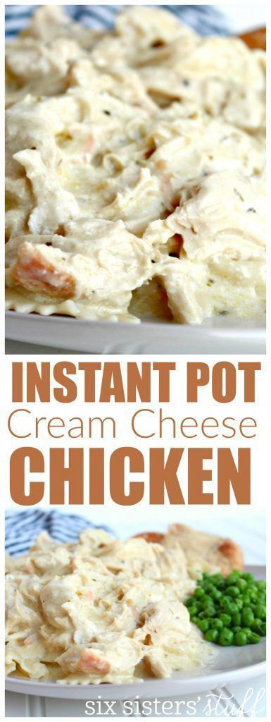Instant Pot Cream Cheese Chicken from http://SixSistersStuff.com | Quick & Easy Dinner Recipes | Kid Approved Meal Ideas | Chicken Breast Recipe