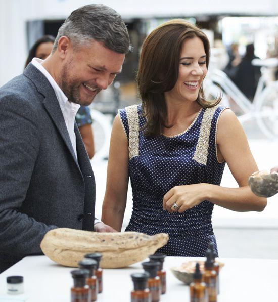 La princesa Mary de Dinamarca en la Semana Internacional de la Moda de Copenhague el 9 de Agosto de 2013.