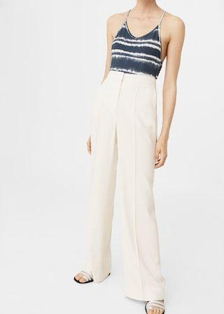 Garniturowe spodnie z wełny - Spodnie dla Kobieta | MANGO Polska
