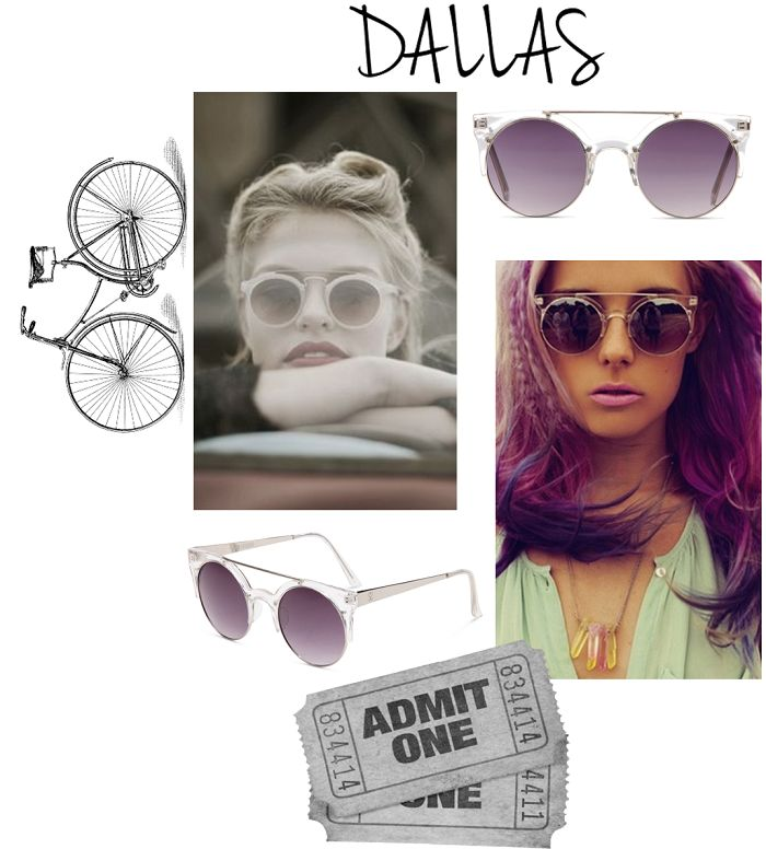 Dallas Sunglasses by Supa Sundays!  http://lemonfrankie.com.au/sunglasses/110-supa-sundays-sunglasses-dallas-crystal-clear.html