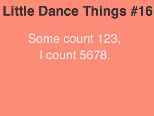 Little Dance Things. Had this problem at bells the other day. haha oops