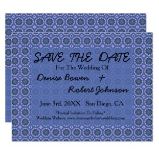 Blue floral Save the Date card #zazzle #invitations