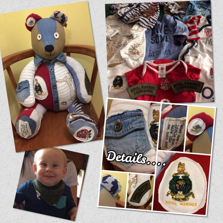 A personal favourite from my Etsy shop https://www.etsy.com/uk/listing/546968351/baby-clothes-bear-memory-teddy-bear