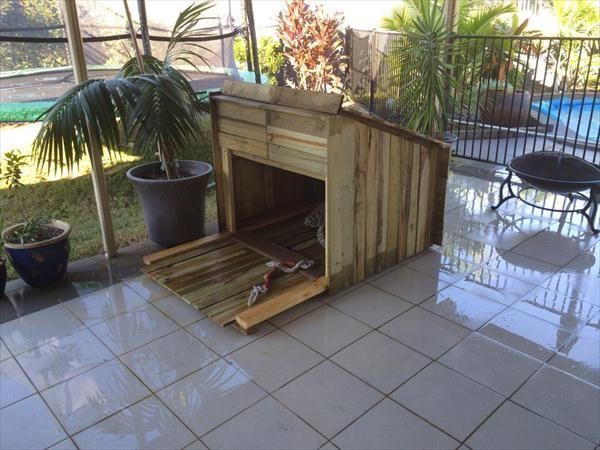 DIY Pallet Outdoor Pet / Dog Housing Plans | 99 Pallets
