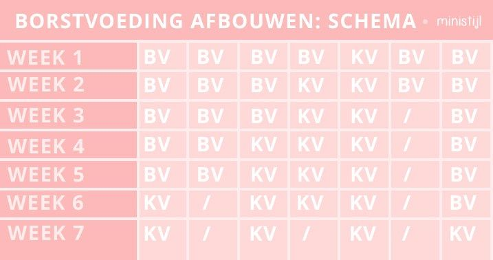 Borstvoeding afbouwen: hoe doe je dat? (+schema) - ministijl