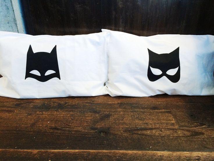 Batman and catwoman pillowcases