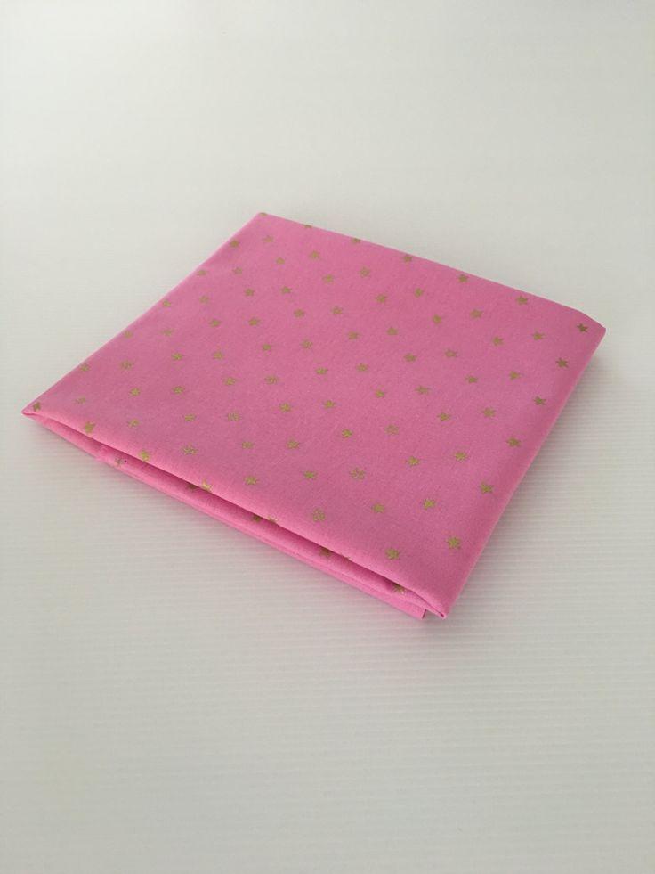 Mini Gold Stars on Pink Fabric by SweetpeaAndLime on Etsy