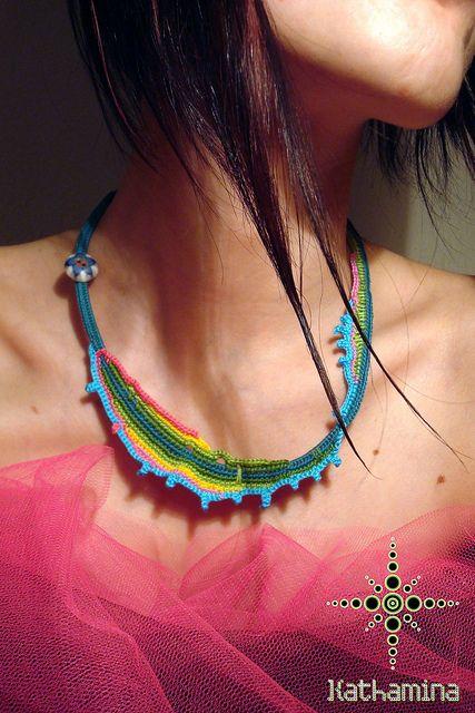 perfect crochet freeform necklace