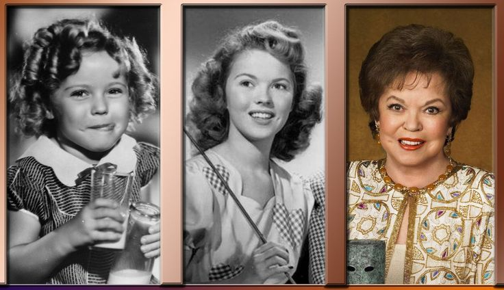 Shirley Temple through the years.