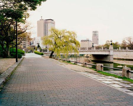 Pathway Towards Motoyasu Bridge, Hiroshima, 26/03/2010, 6.28 (pale blue)
