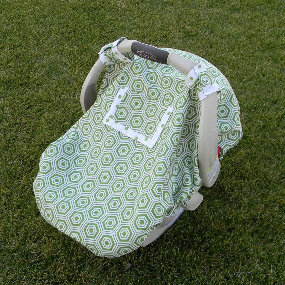 Fitted Car Seat Canopy with PeekaBoo Window -- pattern costs $7 but might be able to wing it?!