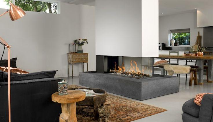 Room Divider Large 3. Deze gashaard van Bellfires is een markante blikvanger in elk interieur.