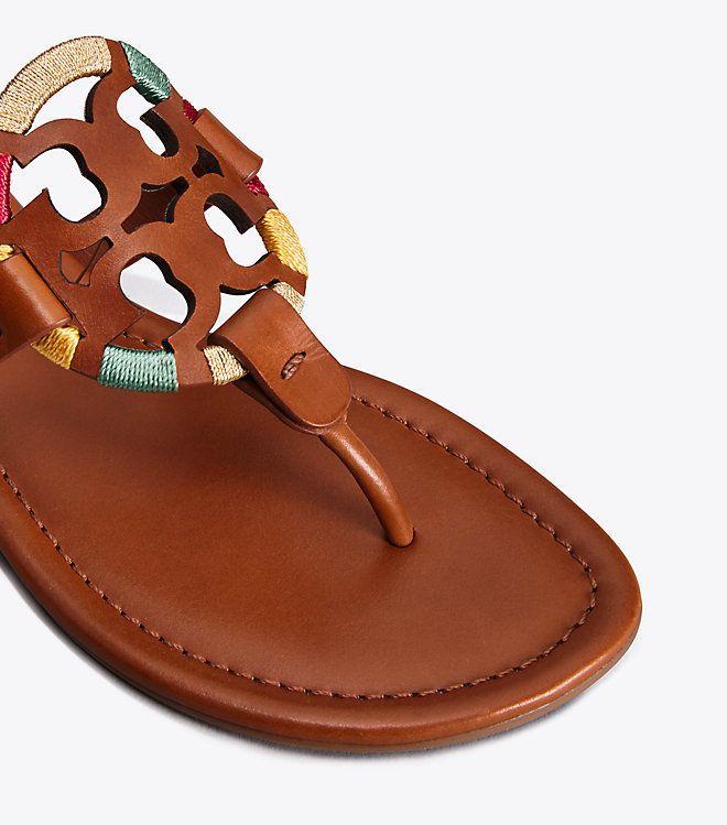 8a8316c55660bf NIB Tory Burch Embroidered Leather 5 Miller Sandal Thong Vintage Vachetta 7   228  ToryBurch  Sandal