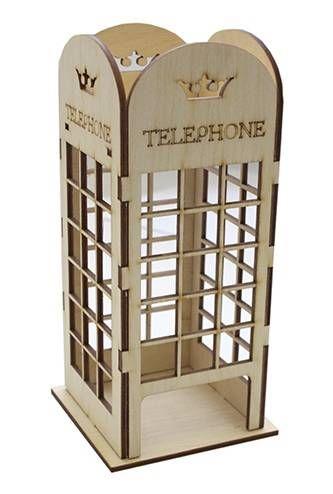 Деревянная заготовка Чайный домик Английский стиль L-548 9x9x19,5см