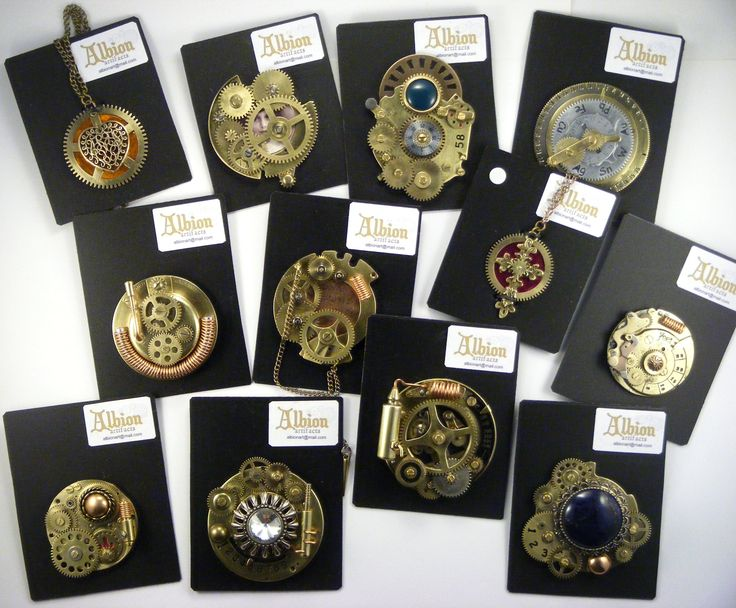 Steampunk Brooches by Albion Artifacts