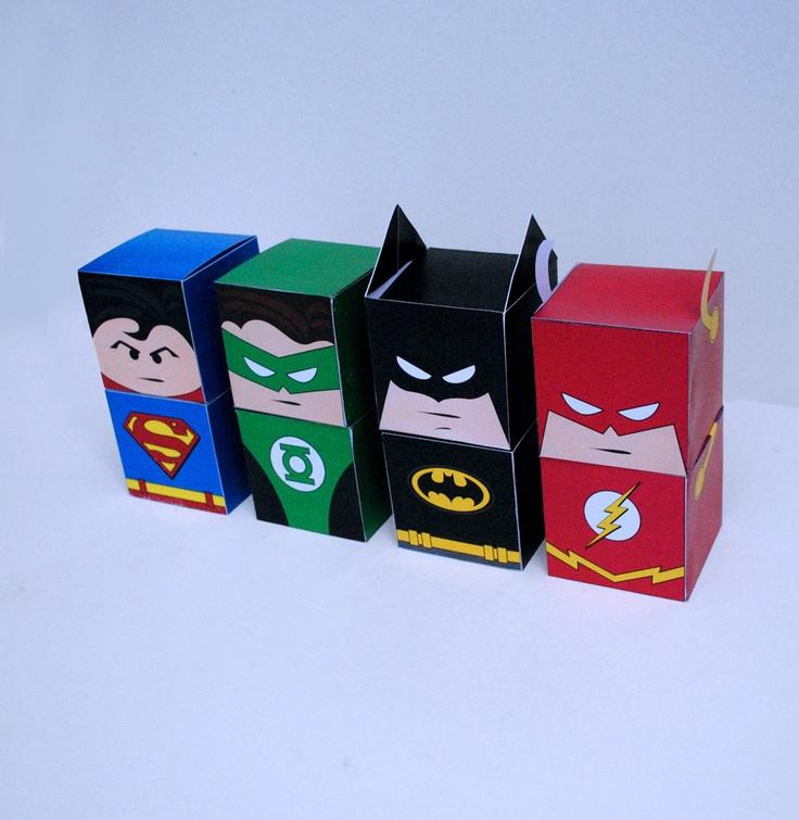 DIY Printable Superhero Cupcake Holder Box Set Treat Box Party Box PDF File Kit