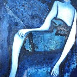 Jennifer Sulaj Fremantle Artist Relaxed  29.5cm x 42cm  Oil on artist quality canvas paper Original Mono print (Framed) $255-
