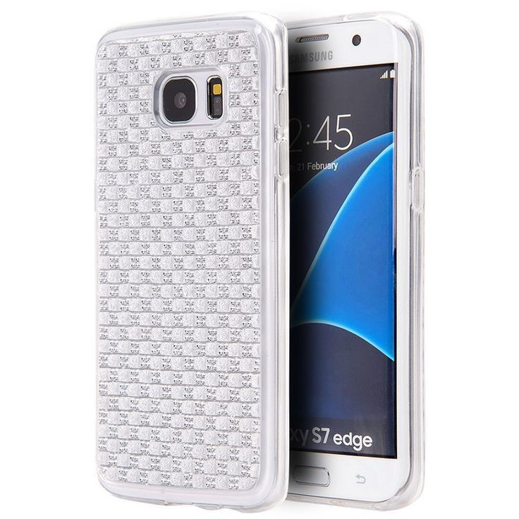 Insten TPU Rubber Candy Skin Diamond Bling Case Cover For Samsung Galaxy S7 Edge #2291560