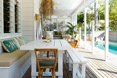 Lovely verandah and louvres to let the breezes in - Coastal Style: Beach Living Australia