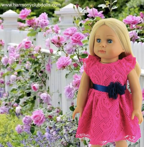 "Harmony Club Dolls has 18"" doll and doll clothes that fits American Girl Dolls www.harmonyclubdolls.com"