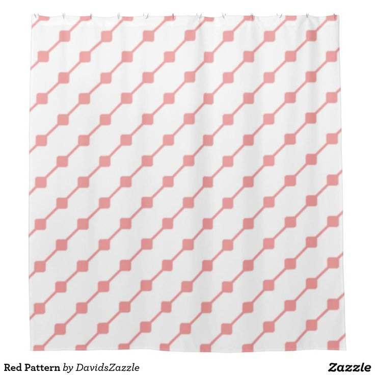 Red Pattern Shower Curtain  Available on many more products! Type in the name of this design in the search bar on my Zazzle products page!   #abstract #art #pattern #design #color #accessory #accent #zazzle #buy #sale #bathroom #home #decor #bedroom #duvet #cover #shower #curtain #toothbrush #soap #dispenser #amenities #blanket #throw #accent #living #modern #chic #contemporary #style #life #lifestyle #minimal #simple #plain #minimalism #square #line #white #red