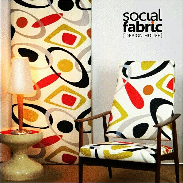 A MODERNE MOMENT Bringing in a sense of #moderne to the scene is one of our popular #designs, #OrbitBlanco #designed by #LynneTanner @socialfabricau . Go to our website www.socialfabric.com.au for more of Lynne's designs. #upholsteryfabric #furnishingfabric #draperyfabrics #interiordesign #interior #midmoderncentury #retrofabrics #textile #decor #home #australianmade