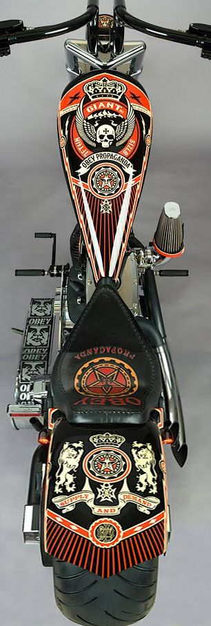 Great bikes presented to you by www.friseuragent.de - Obey Propaganda Chopper nice artwork
