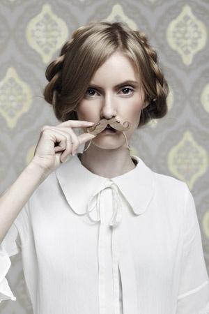 Moustache Necklace - wood