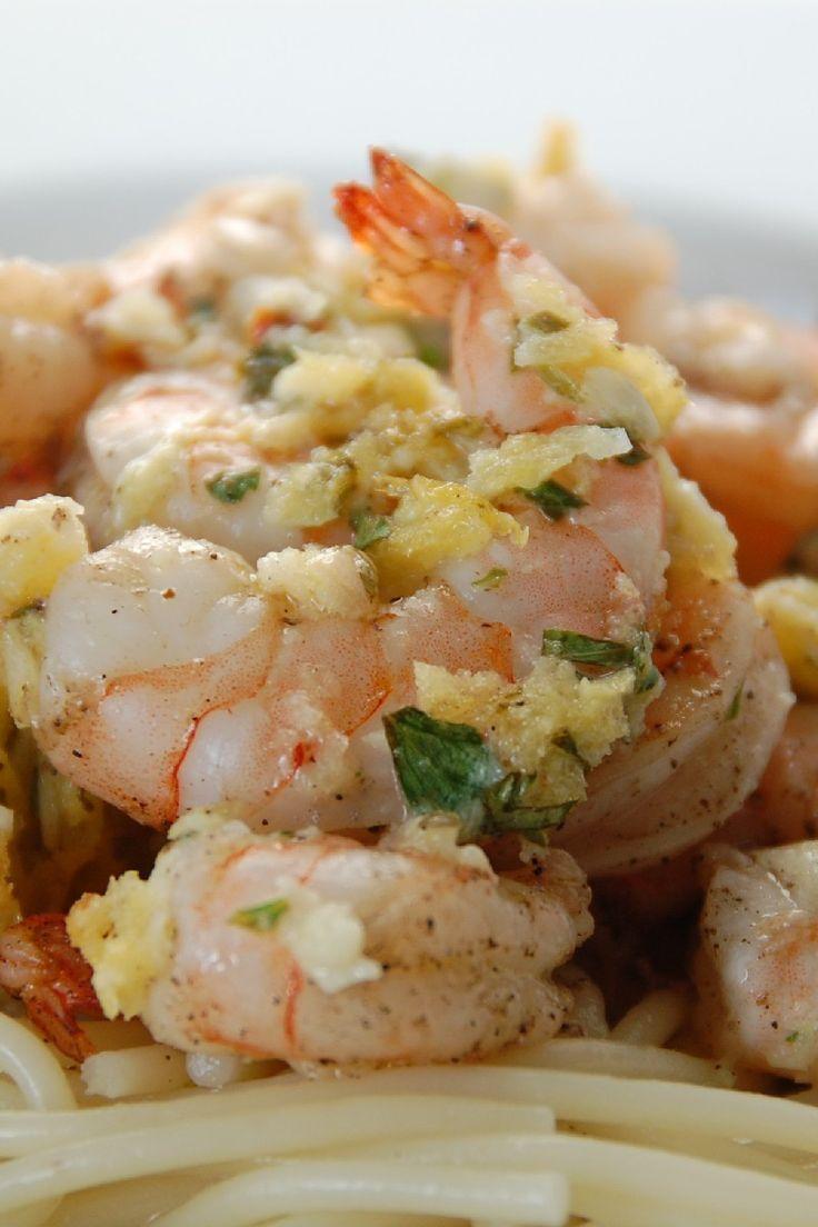 Healthy Shrimp Scampi with Garlic, Lemon & White Wine   #shrimp #recipes #healthy #food