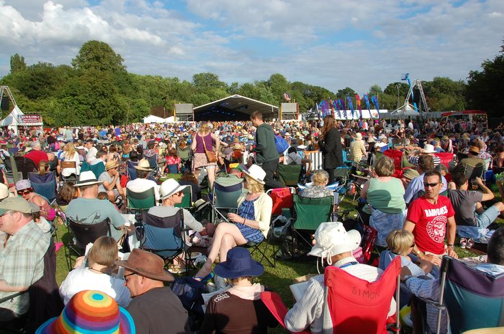 Music lovers at Cambridge Folk festival 2012