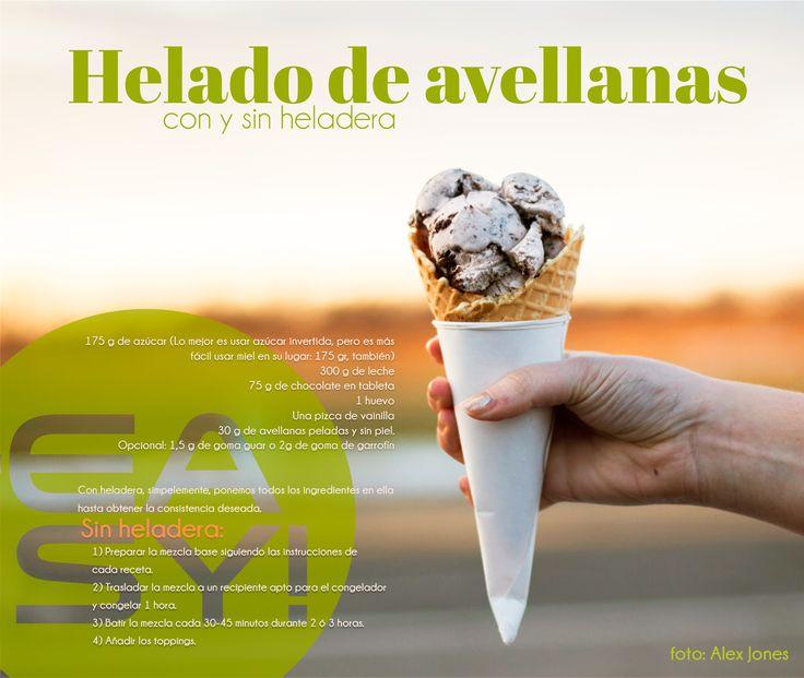 #Helado de #avellanas  #hazelnut #icecream