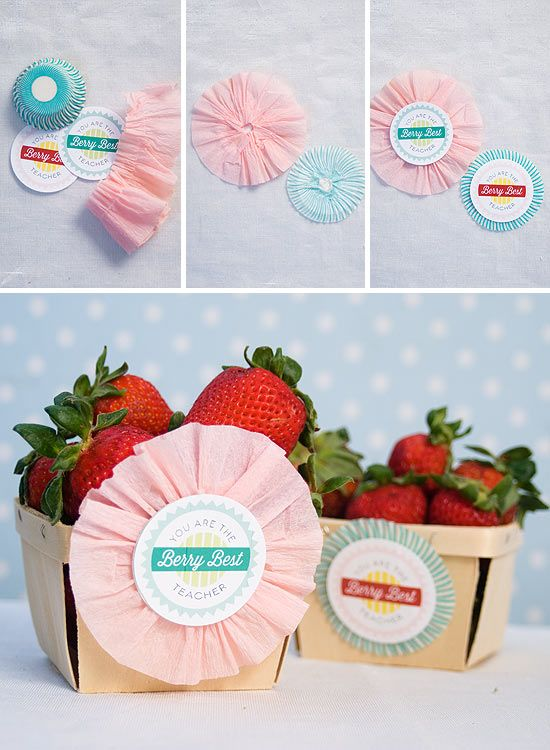 Berry cute teacher gifts on onecharmingparty.com #teachergift