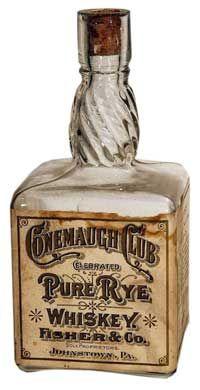 Rye whiskey liquor bottle, Victorian  :: visit us at http://www.ocean-grove-nj.com