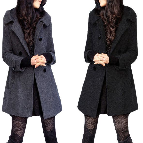 Casaco Feminino Winter Coat Female Coats Casacos Trench Coat Jacket 5XL 6XL Sobretudo Preto For Womenn Cashmere Woolen Jacket