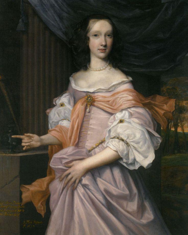1659 john michael wright portrait of lady catherine. Black Bedroom Furniture Sets. Home Design Ideas