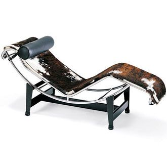 Le Corbusier, Pierre Jeanneret and Charlotte Perriand lc4 Chaise Lounge, Cassina. @Deidré Wallace