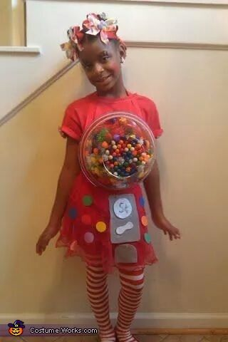 bubble gum machine homemade costumes for girls - Homemade Halloween Costume For Girls