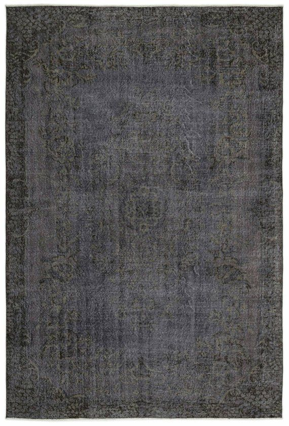 7x10 Grey Vintage Turkish Oushak Antique Hand Woven Rug Turkish