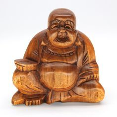 "SUKA BUDDHA WOOD CARVING Handcarved from sustainable rain tree wood, this sculpture sits 4"" high. Handmade by talented artisans in developing countries. Imported. Be sure to enter Kendra.IThoughtOfYou@gmail.com at checkout!"