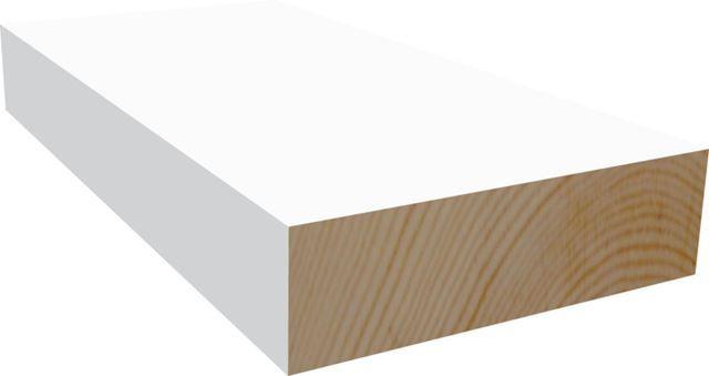 Furu 6x21 mm glattkantlist hvitmalt, Montér, 32,20kr pr. lm