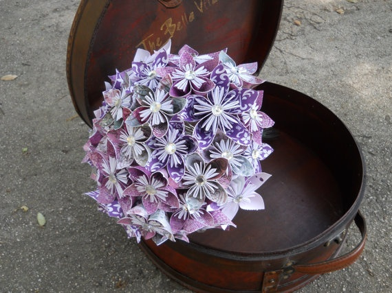 Paper Flower BouquetPurple with by LovelyPetalsBoutique on Etsy, $88.00