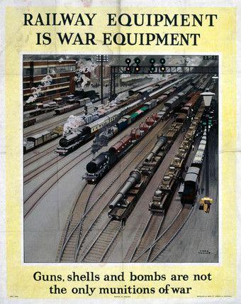 'Railway Equipment is War Equipment', World War II poster, 1943., Taylor, Fred…