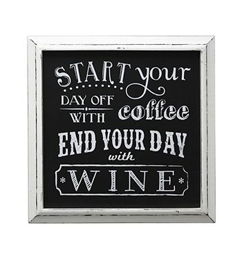 Fetco® Start With Coffee End With Wine Wall Decor | Bergner's