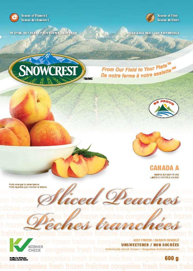 Snowcrest Package Design - Sliced Peaches