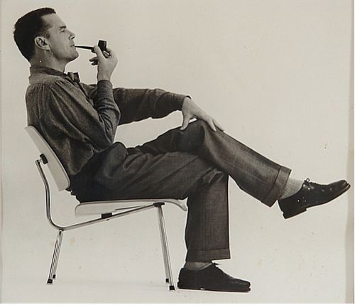 Charles Eames certainly wasn't camera shy.  He loved to pose for a pic, often with his pipe.